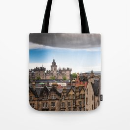 View of Edinburgh architecture from Victoria Street Tote Bag