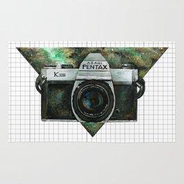 Pentax K1000 (Green Nebula) Rug