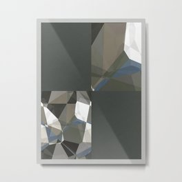 Abstract Polygons 214 Blank Design Metal Print