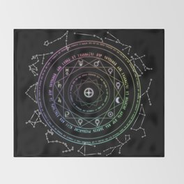 Astrological Magic Circle Throw Blanket