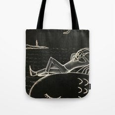 harlequin at sea Tote Bag