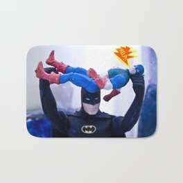 Captain America in Trouble 3 Bath Mat