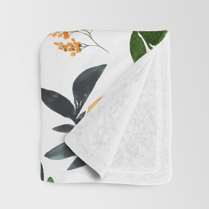 Orange Grove Throw Blanket