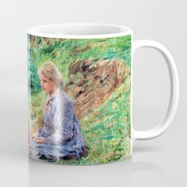 Emile Claus - Children in a landscape - Digital Remastered Edition Coffee Mug