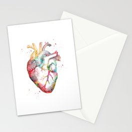 Human Heart Stationery Cards