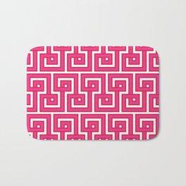 Greek Key - Pink Bath Mat
