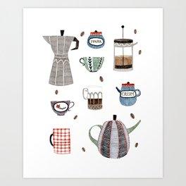 Coffee and Tea Art Print