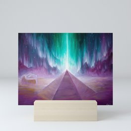 The energy of the pyramid on Mars Mini Art Print