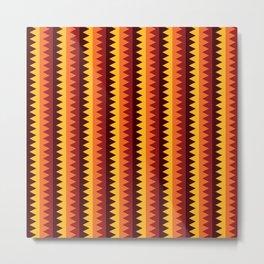 Geometric Pattern #191 (orange brown) Metal Print
