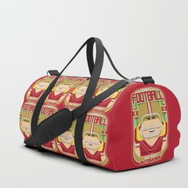 American Football Red and Gold - Hail-Mary Blitzsacker - Hazel version Duffle Bag