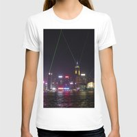 hong kong T-shirts featuring Hong Kong Laser Show by Lynn Bolt