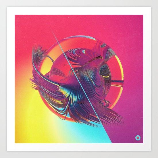 WATERMELON YODA (09.15.15) Art Print