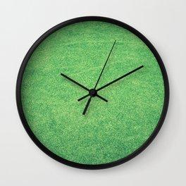 Green Lawn Wall Clock