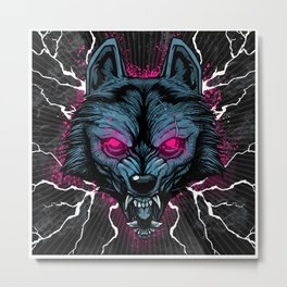 Insanity Wolf Metal Print