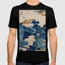 Cottages On Cliffs Traditional Japanese Landscape T-shirt