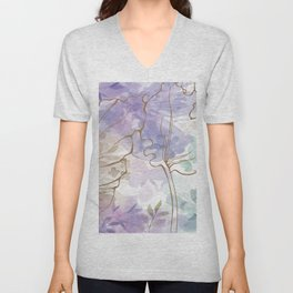 Posy Cluster -- muted Unisex V-Neck