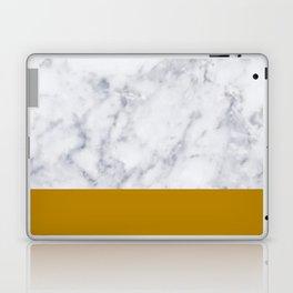 Marble Mustard yellow Color block Laptop & iPad Skin