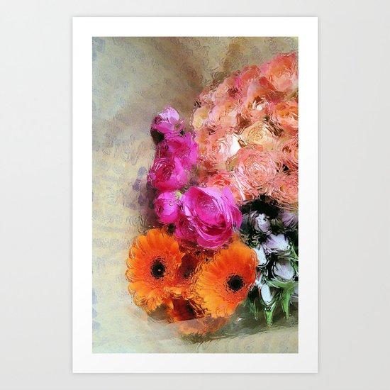 glossy love letters Art Print