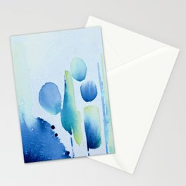 Watercolour tumbles in blue Stationery Cards