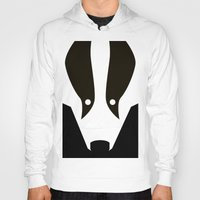 badger Hoodies featuring Badger by Christian Bailey