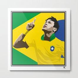 Neymar Brasil 2 Metal Print