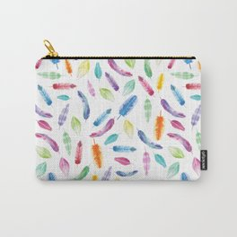 Watercolour Feathers Carry-All Pouch
