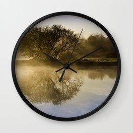 Sunrise Fog Wall Clock