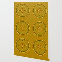 70s Circle Designs - Orange, Brown, Green Wallpaper