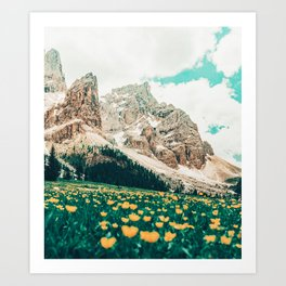 Hillside Meadow #photography #nature Art Print