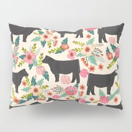 Show Steer cattle breed floral animal cow pattern cows florals farm gifts Kissenbezug