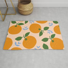 Oranges - gouache painting Rug