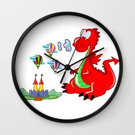 Dragon The Hot Air Balloon Helper Wall Clock
