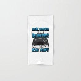 Nur noch eine Runde! Dann hör ich auf! - Gamer Hand & Bath Towel
