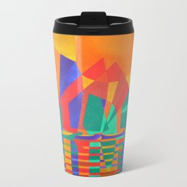 Dreamboat - Cubist Junk In Primary Colors Travel Mug