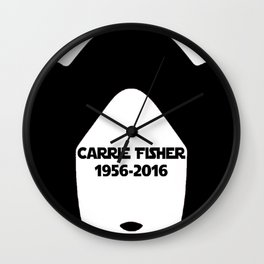 Carrie Fisher Wall Clock