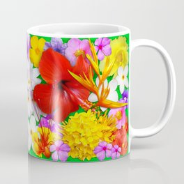 Exotic Flowers Colorful Explosion Coffee Mug
