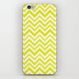 Chevron, Yellow, Scandinavian, Minimal, Pattern, Modern art iPhone Skin