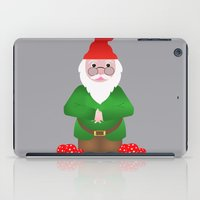 gnome iPad Cases featuring Gnome by lescapricesdefilles