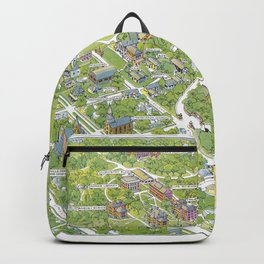 DENISON University map GRANVILLE OHIO Backpack
