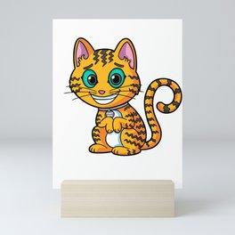 Ziggy Kitty Mini Art Print