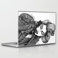 artrave Laptop & iPad Skins featuring GIRL WITH A TELEPHONE by Christina Dedic