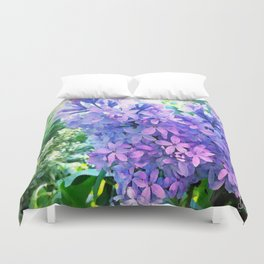 Lilacs in Bloom Duvet Cover