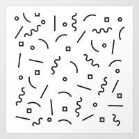 confetti Art Prints featuring Confetti by Mancha