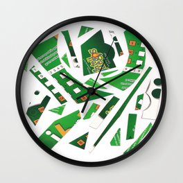 Carrousel collage Wall Clock