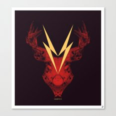 Cervus (Lightning Bolt Version) Canvas Print