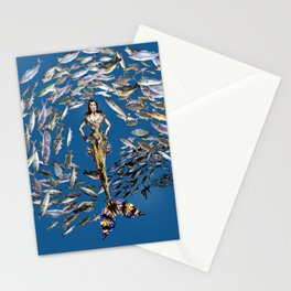 Mermaid in Monaco Stationery Cards