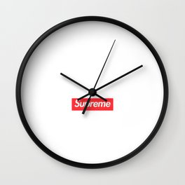 cherry supreme new hot 2018  red Wall Clock