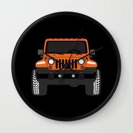 [JEEP] Orange + Black BG Wall Clock