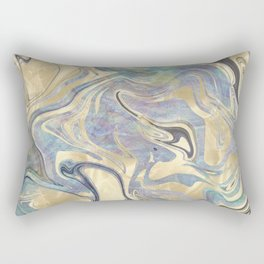 Liquid Gold Mermaid Sea Marble Rectangular Pillow
