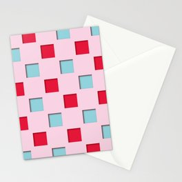 Japanese checkered pattern #4 Stationery Cards